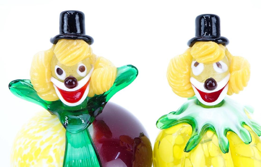 Collection Of Four (4) Vintage Murano Art Glass Clowns. - 3