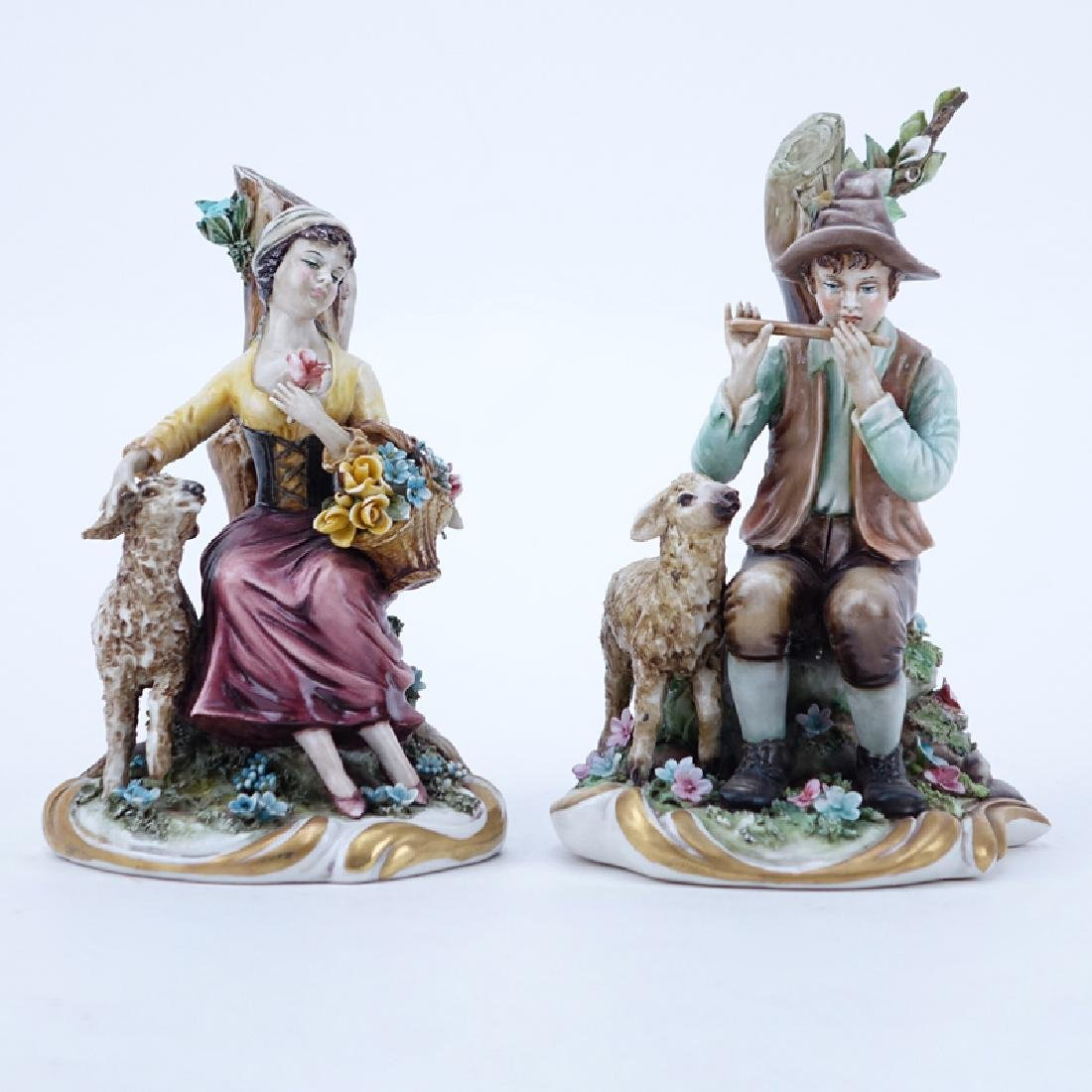 Two (2) Works Of Art Italy Porcelain Figurines.