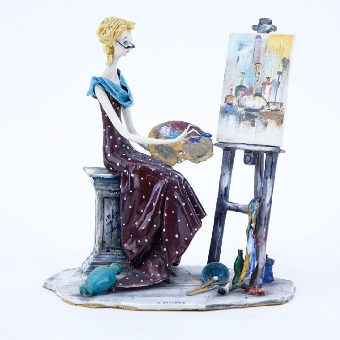 "A. Colombo La Scricciolo Ceramic Figurine ""Painter""."
