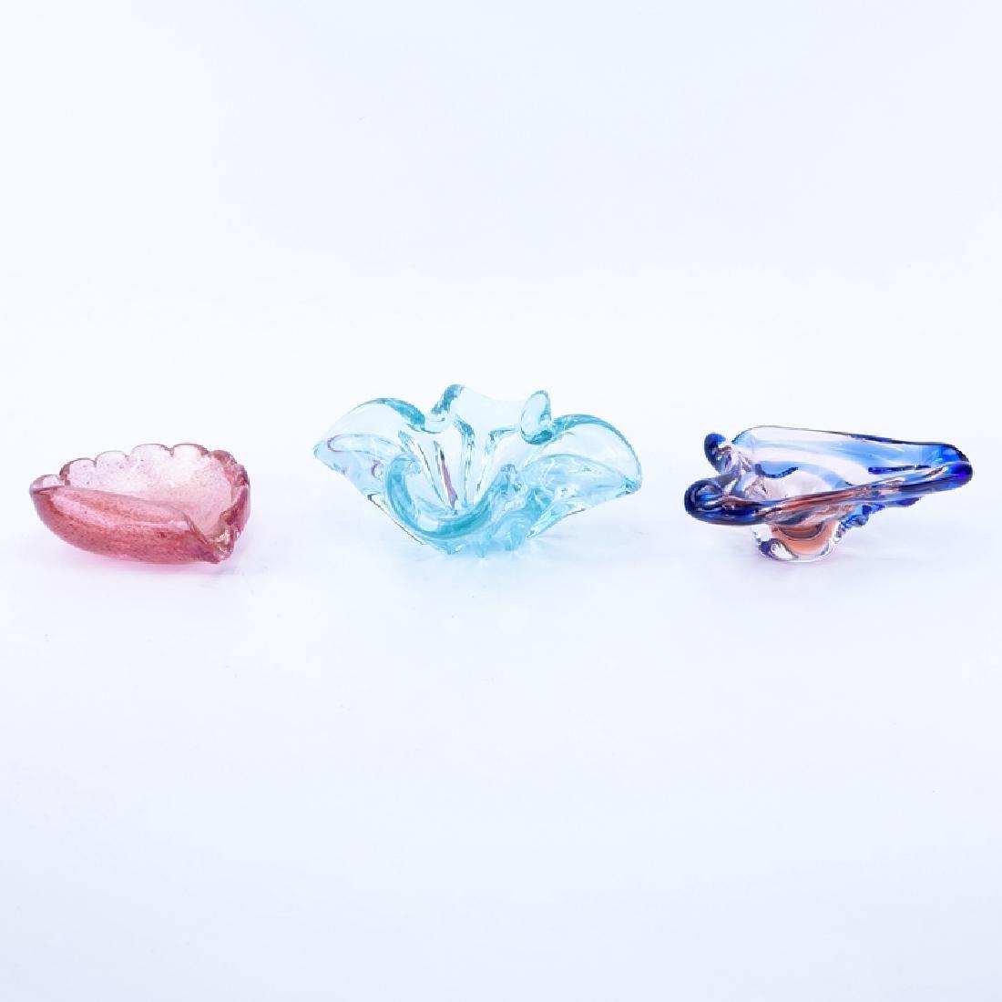 Collection of Three (3)  Italian Murano Art Glass