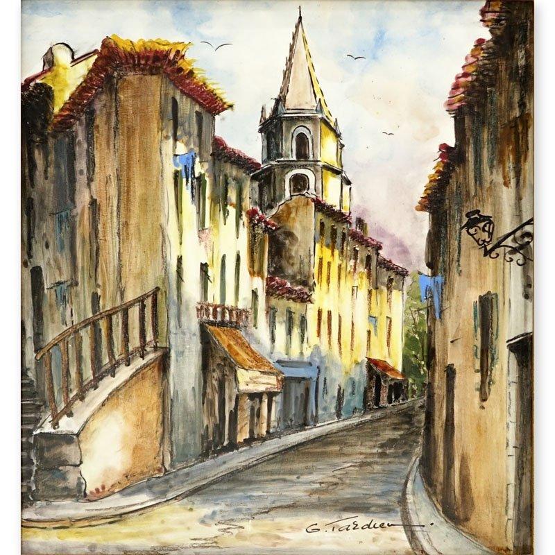 Georges Tardieu, (b.1927- ) Enamel Painting on