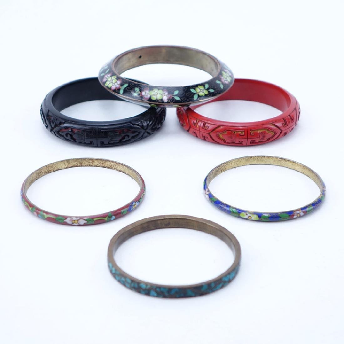 Collection of Six (6) Vintage Chinese Bangle Bracelets.