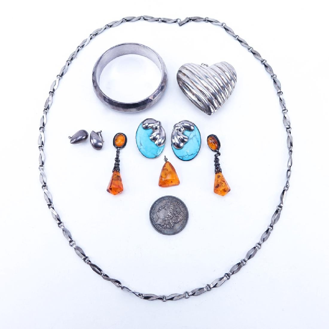 Lot of Assorted Items. Includes: Sterling necklace,