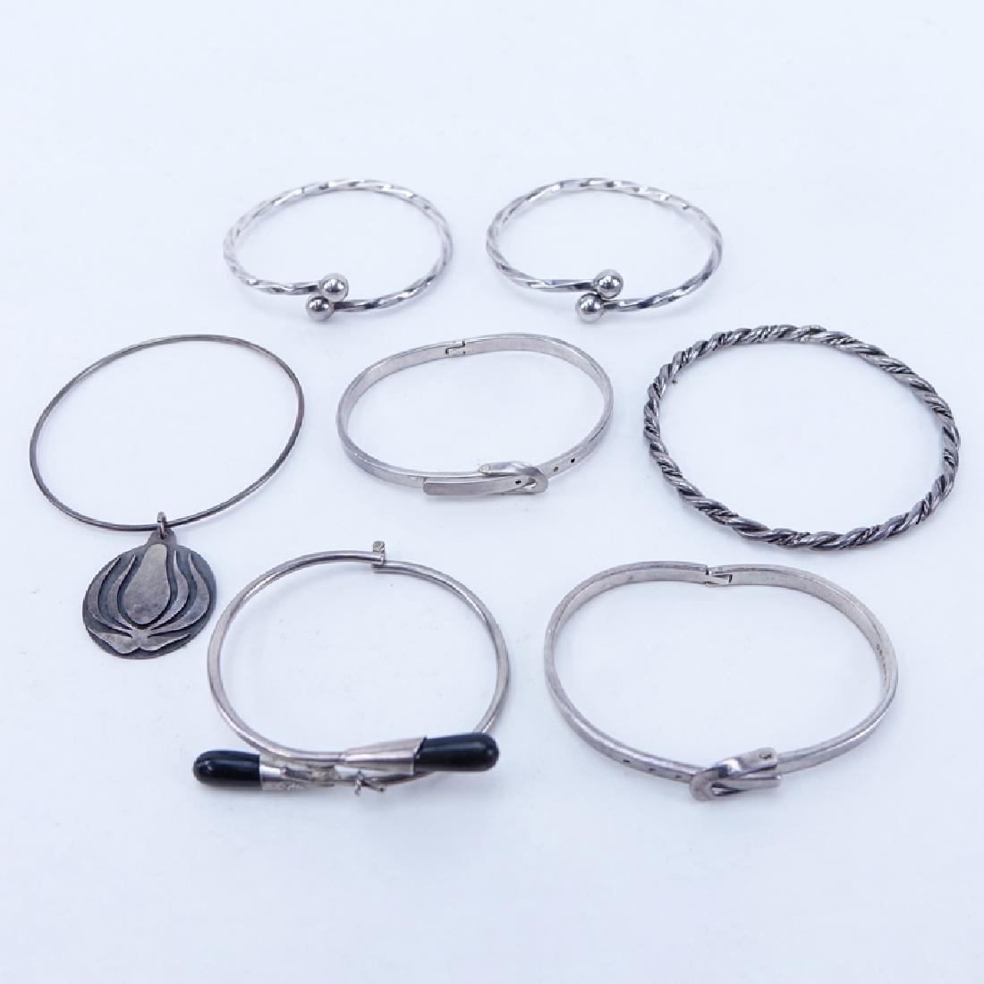 Lot of Seven (7) Vintage Sterling Silver Bracelets. All