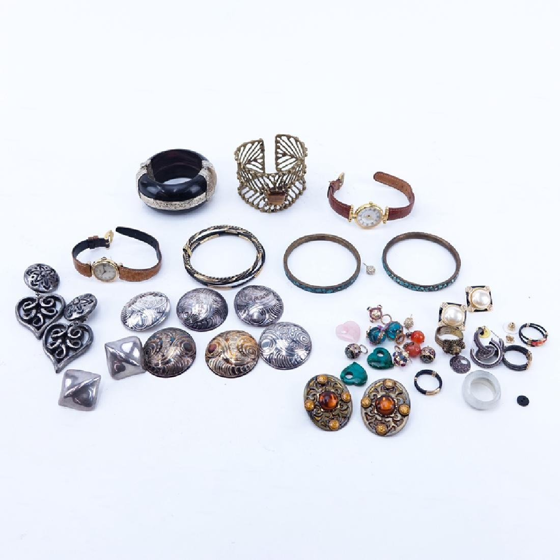 Lot of Costume Jewelry and Watches. Includes: Earrings,