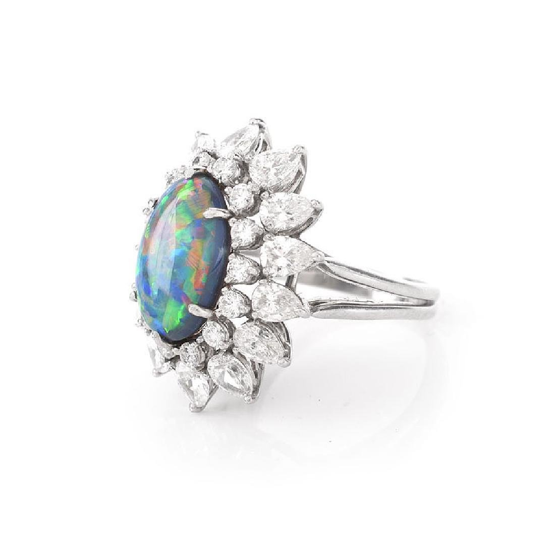 Vintage Tiffany & Co Oval Cabochon Black Opal, Pear - 2
