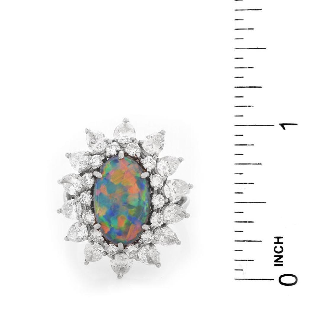 Vintage Tiffany & Co Oval Cabochon Black Opal, Pear - 6