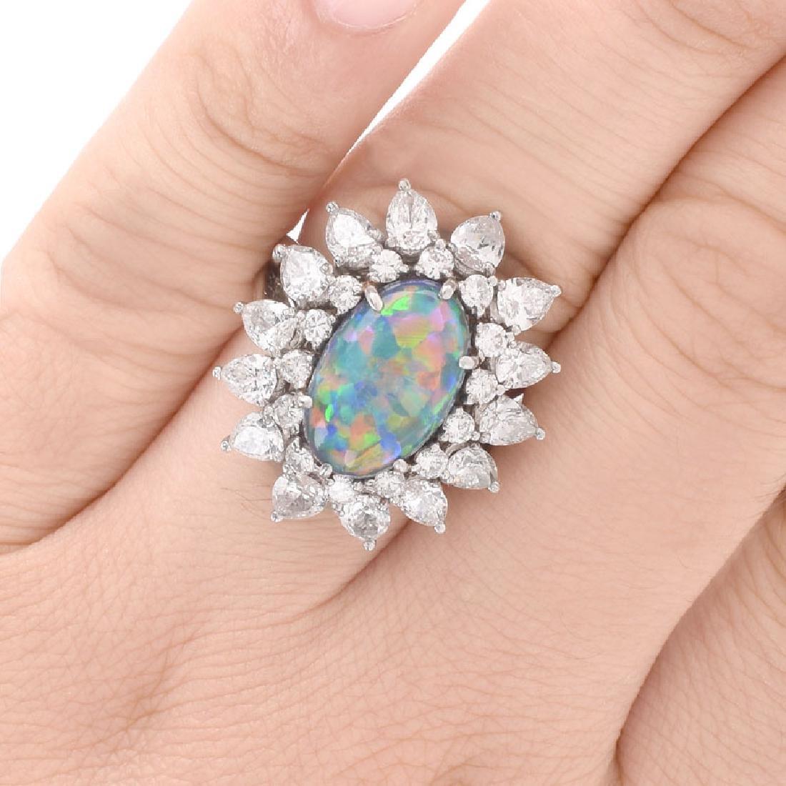Vintage Tiffany & Co Oval Cabochon Black Opal, Pear - 7