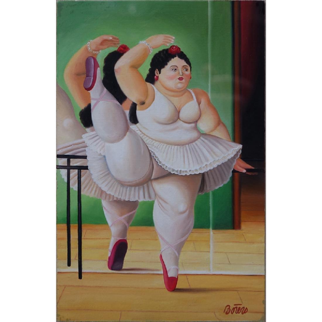 After: Fernando Botero, Colombian (b. 1932) Oil on