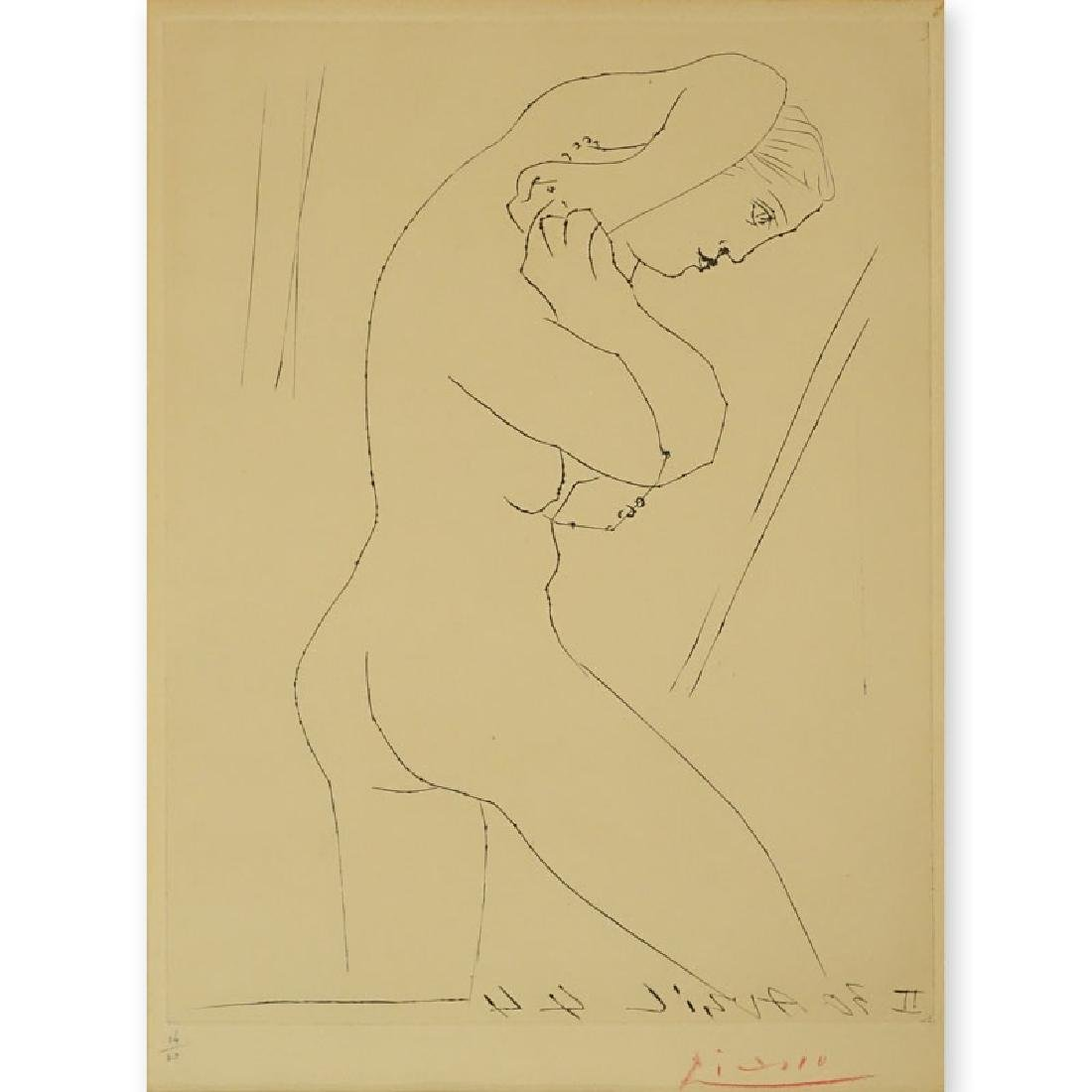 "Pablo Picasso, Spanish (1881 - 1973) Etching "" Pablo"