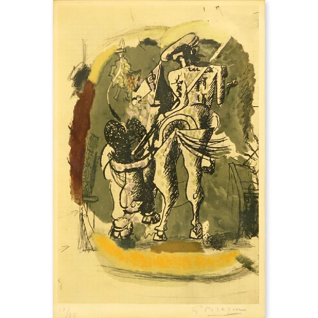 Georges Braque, French (1882-1963) Color lithograph