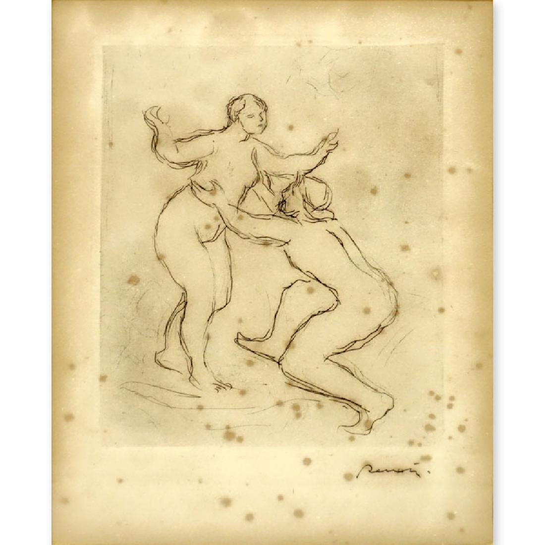 """Pierre Auguste Renoir, French (1841 - 1919) Etching """"Le"""