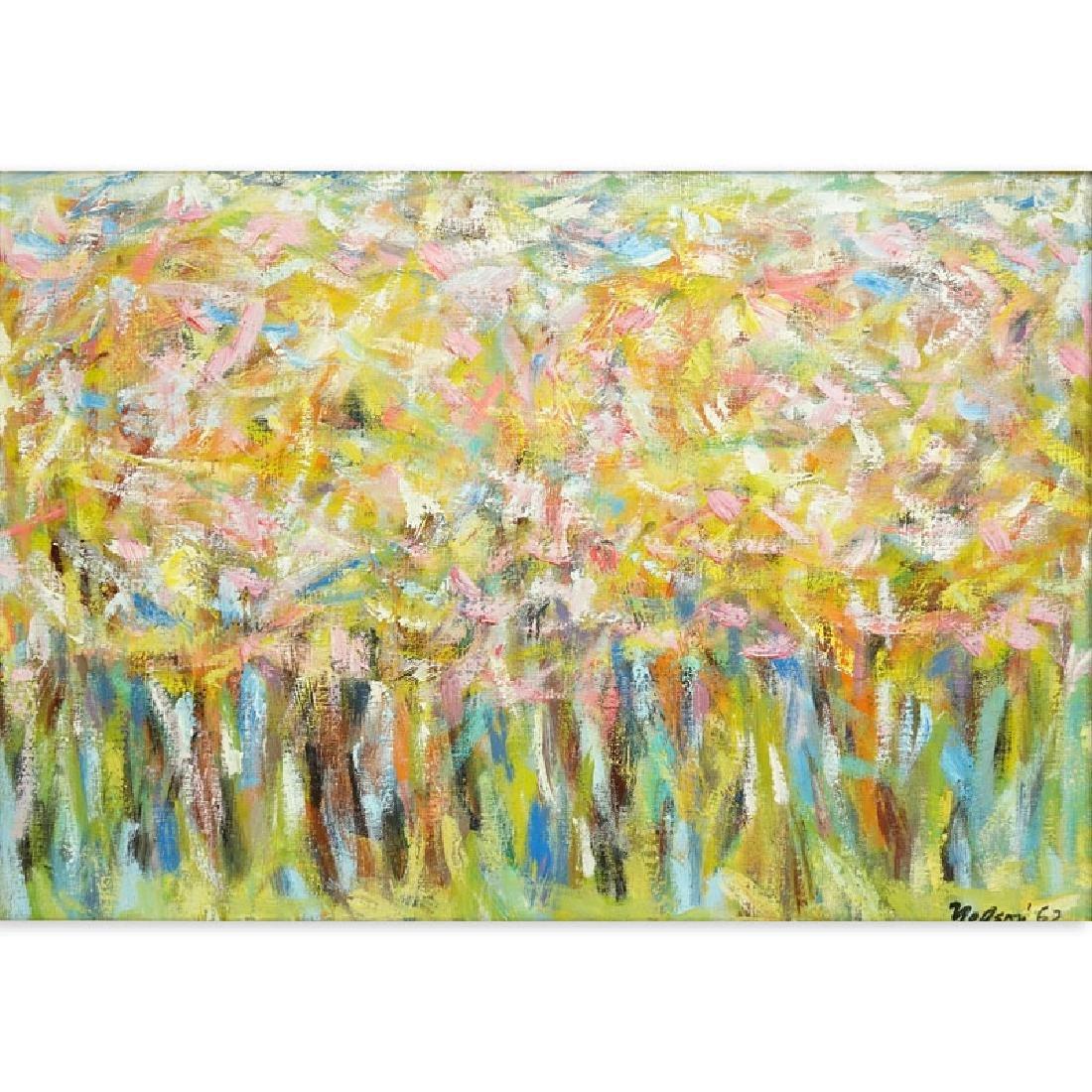 Leonard Nelson, American (1912 - 1993) Oil and acrylic