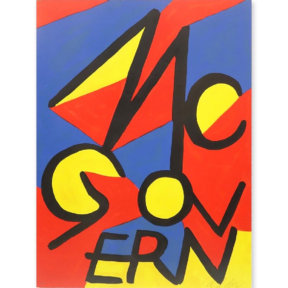 Alexander Calder, American (1898-1976) Color lithograph