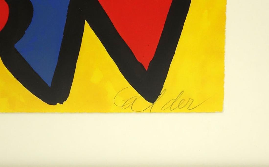 Alexander Calder, American (1898-1976) Color lithograph - 3