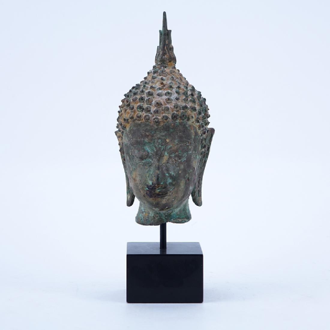 Antique Thai Bronze Sculpture of a Buddha Head/Bust