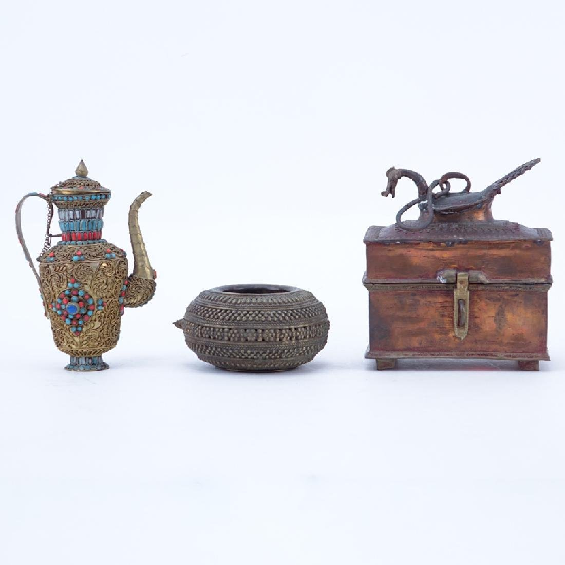 Collection of Three Thai Style Bronze & Copper Items