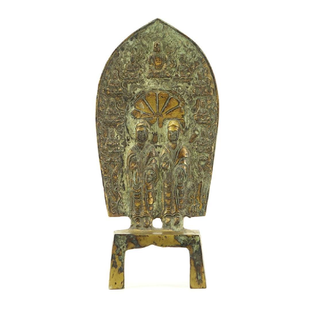 Chinese Wei Dynasty Gilt Bronze Buddhist Figurine