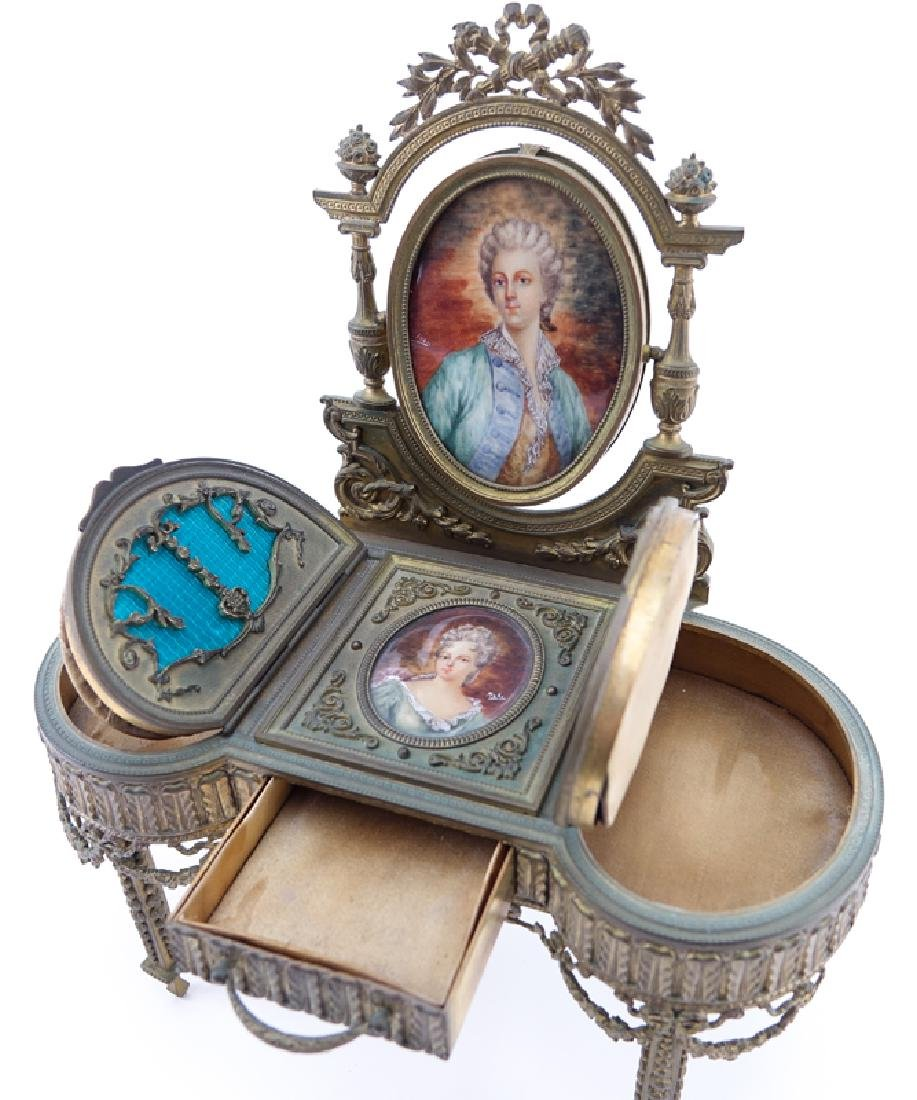 19th Century French Guilloche Enamel and Gilt Bronze - 2