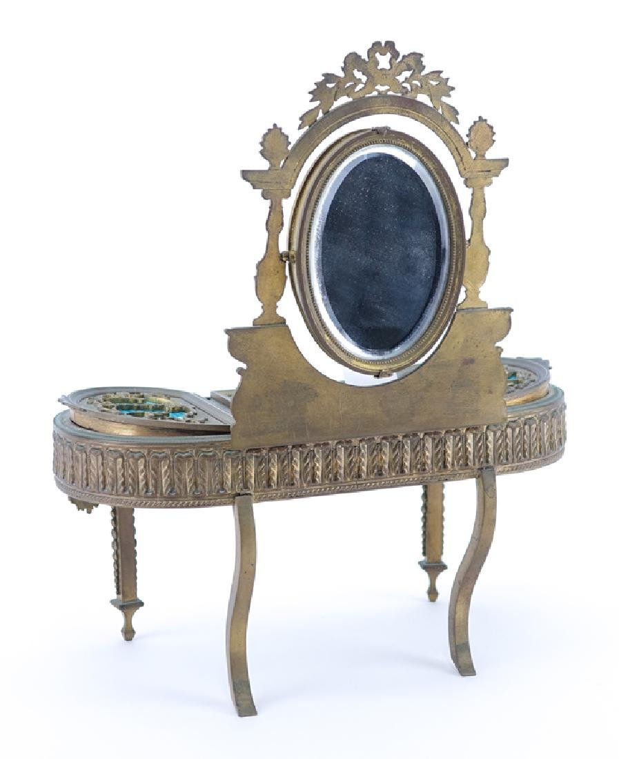 19th Century French Guilloche Enamel and Gilt Bronze - 5