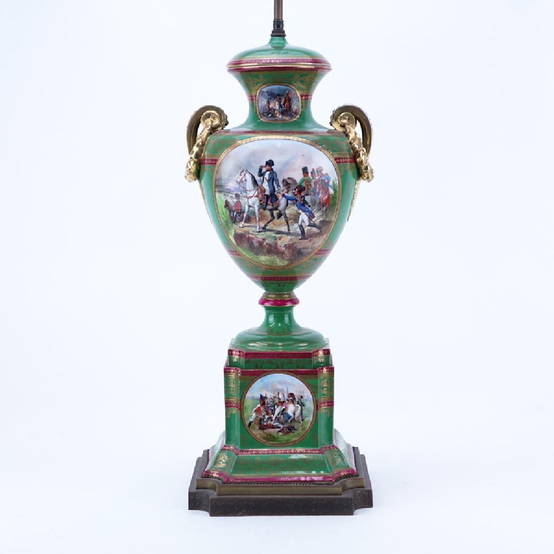 Large French Sevres Style Hand Painted Napoleonic