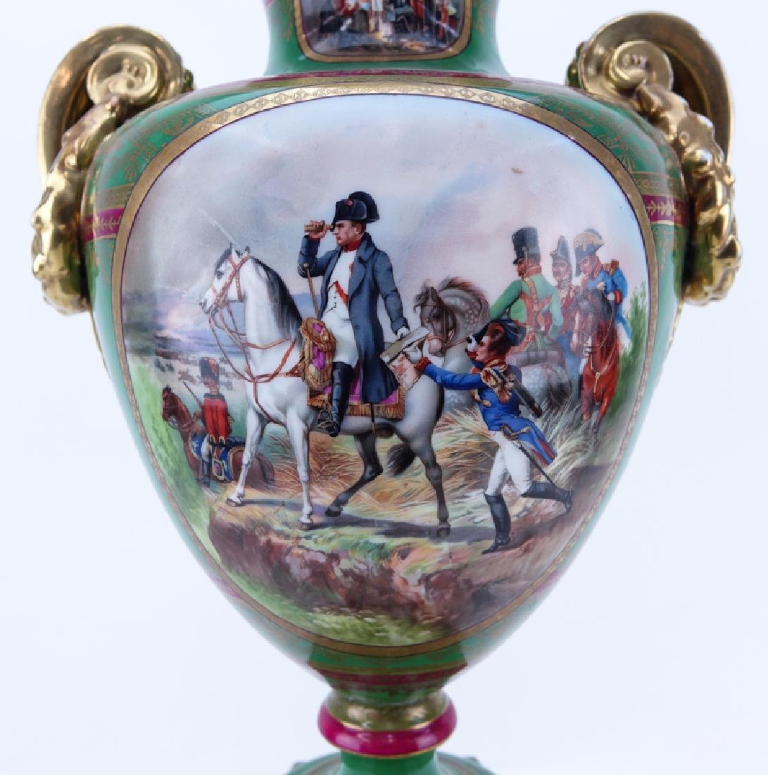 Large French Sevres Style Hand Painted Napoleonic - 2