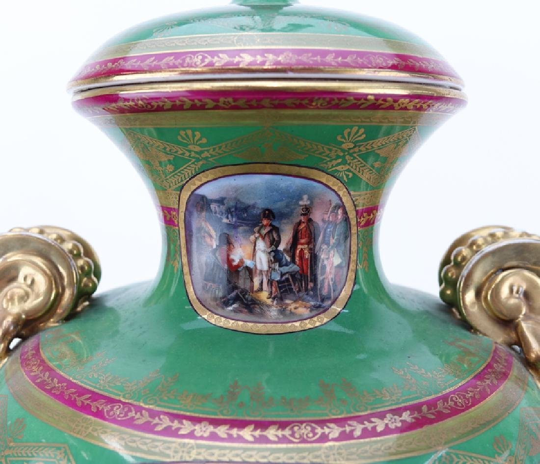 Large French Sevres Style Hand Painted Napoleonic - 3