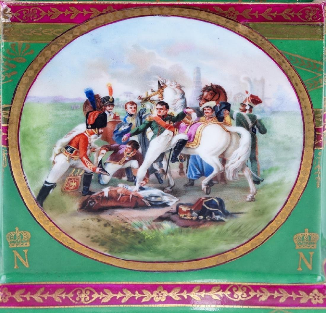 Large French Sevres Style Hand Painted Napoleonic - 4