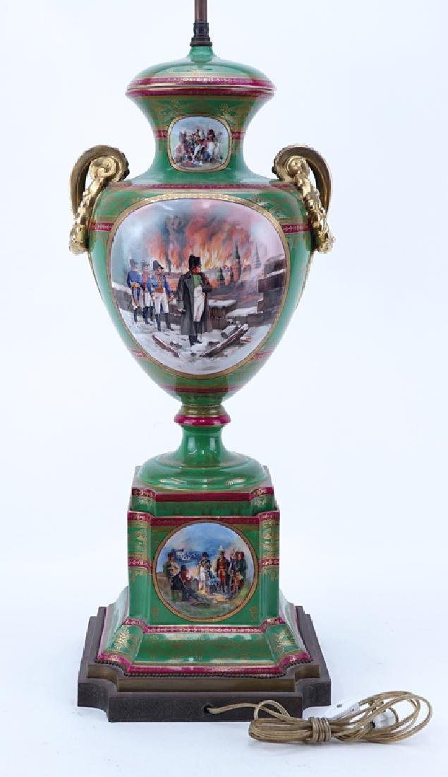 Large French Sevres Style Hand Painted Napoleonic - 5
