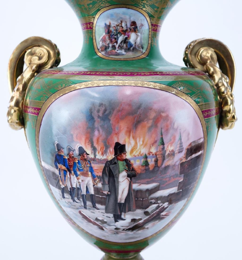 Large French Sevres Style Hand Painted Napoleonic - 6