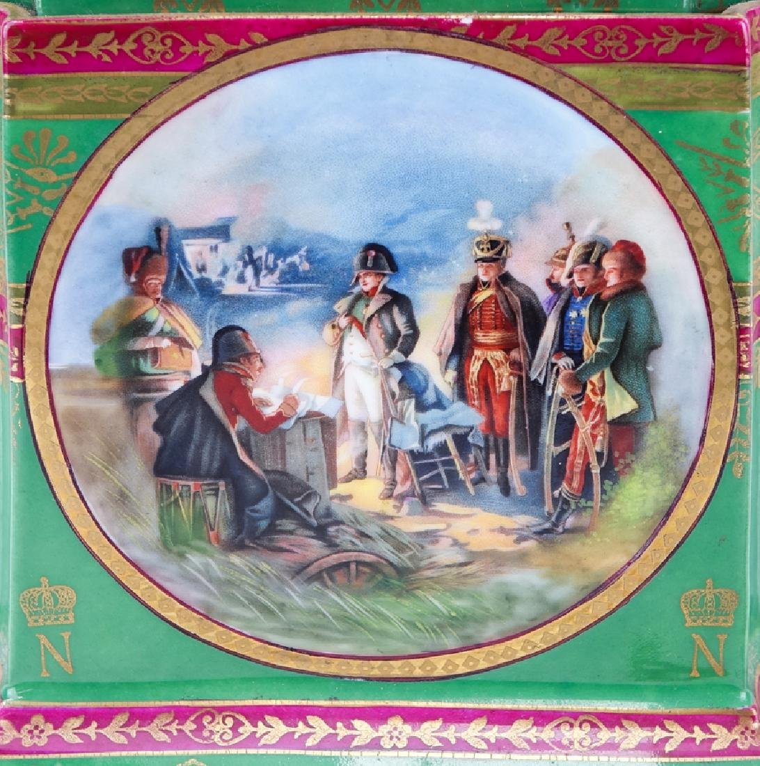 Large French Sevres Style Hand Painted Napoleonic - 7