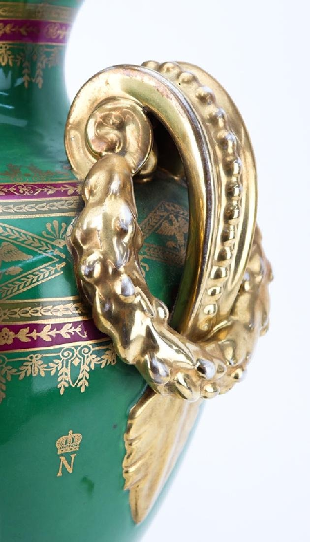 Large French Sevres Style Hand Painted Napoleonic - 8