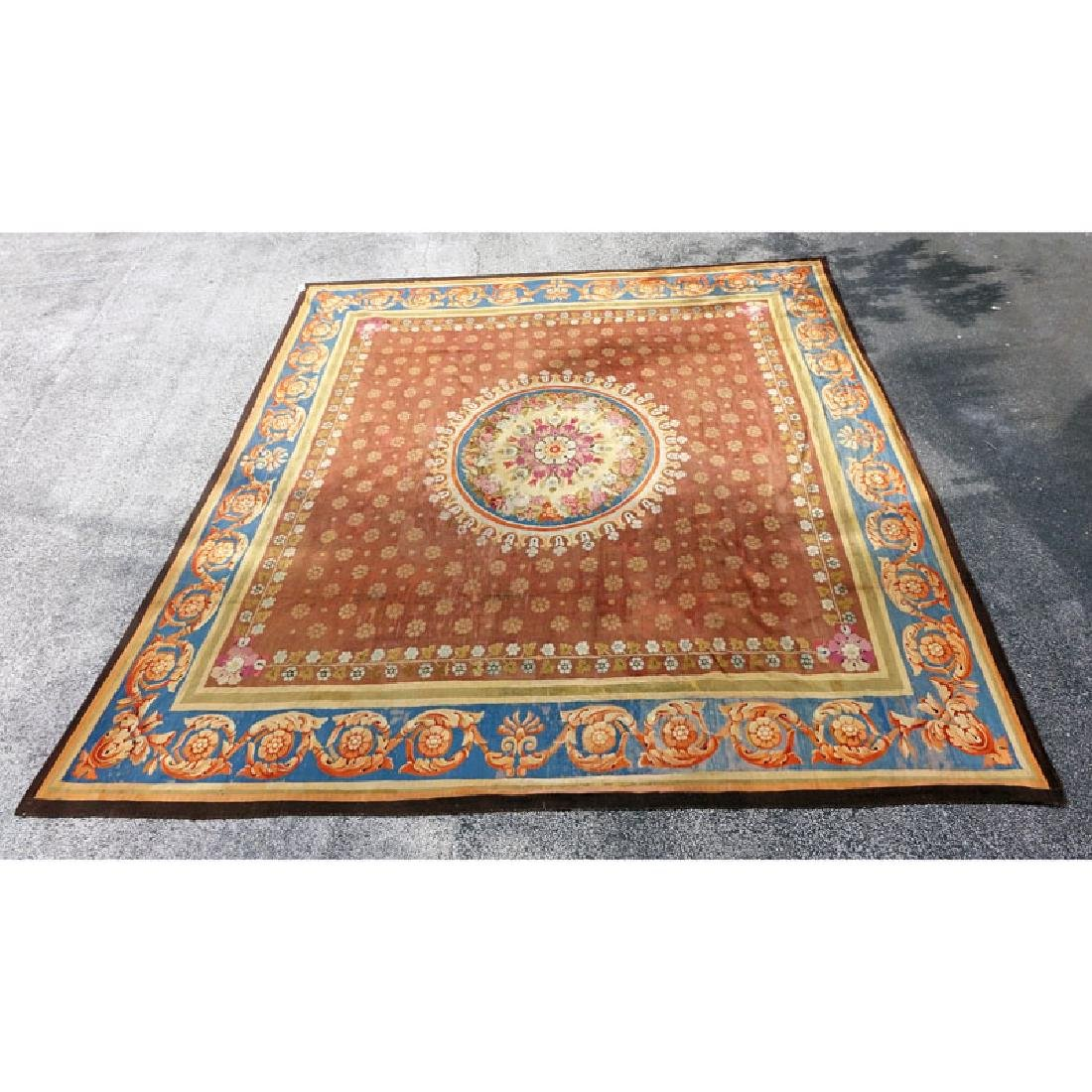 Large 19th Century French Aubusson Carpet.