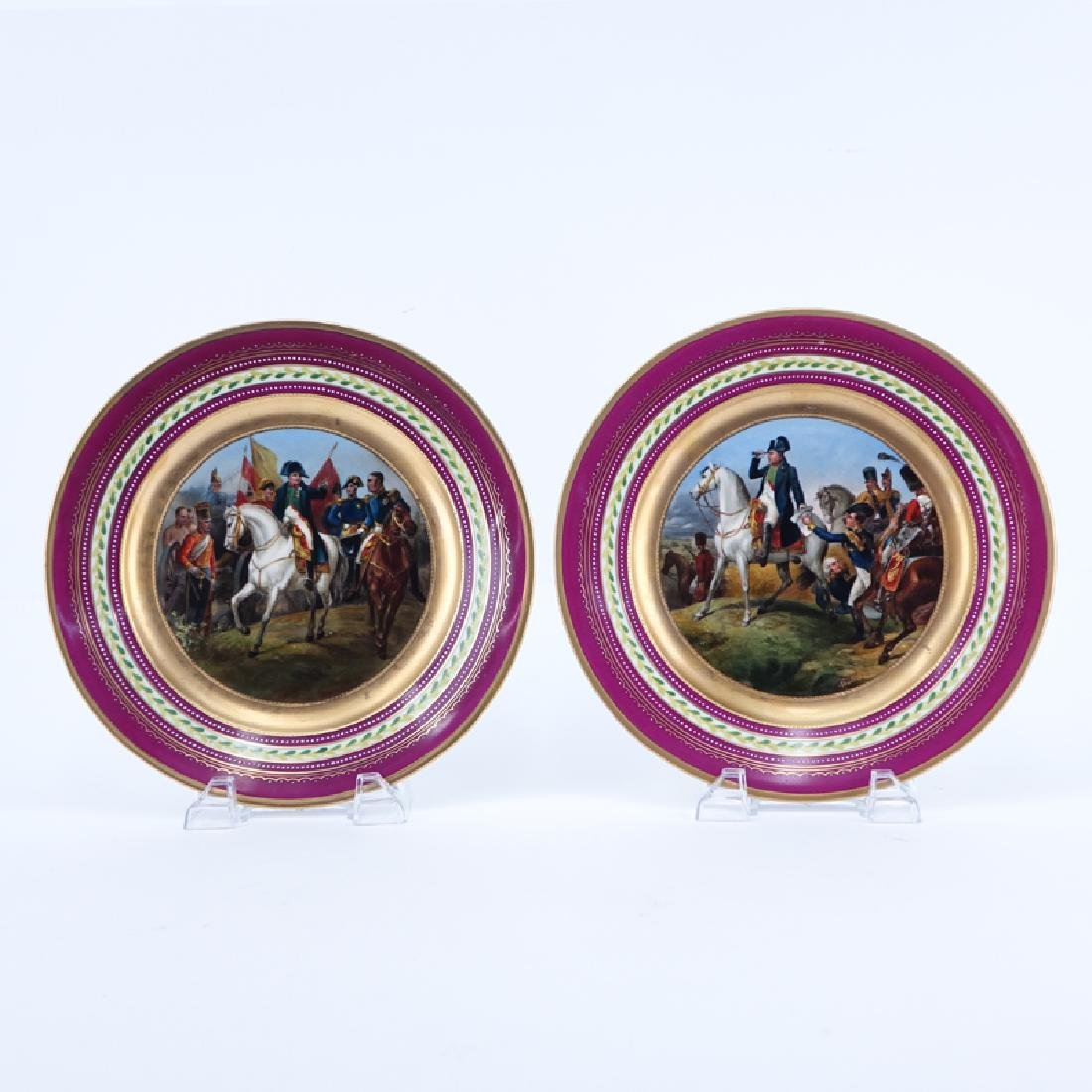 Pair of 19/20th Century Royal Vienna Gilt Hand painted