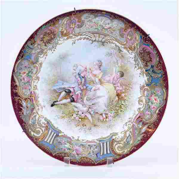Large 19/20th Century Sevres Luster and Gilt Hand
