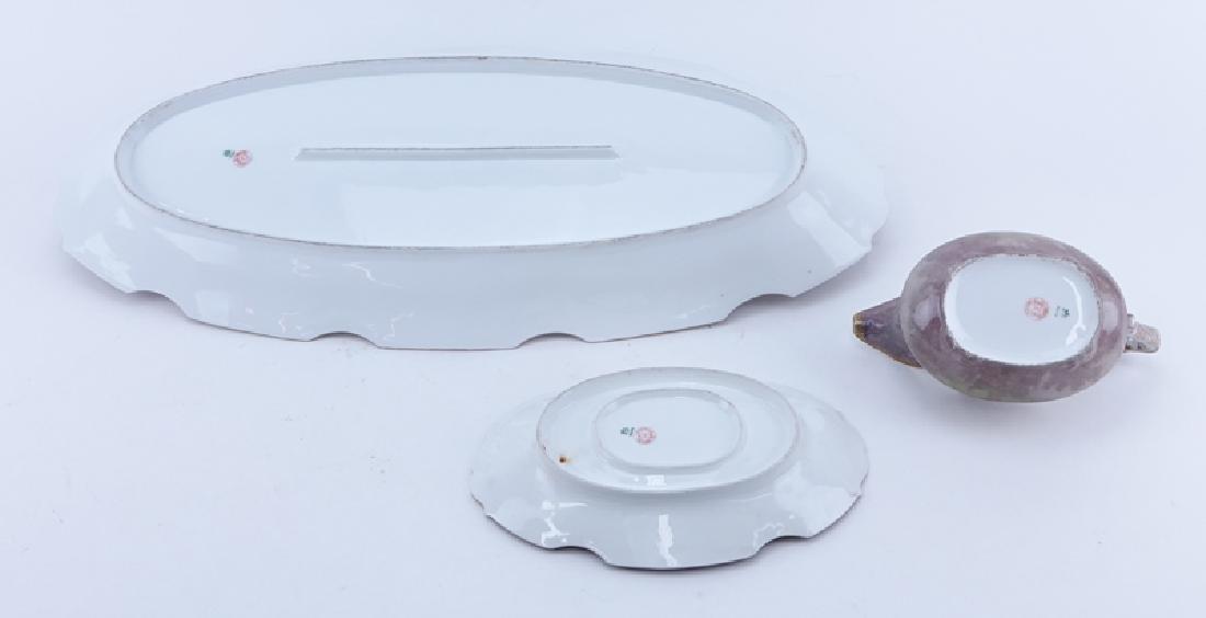 Antique Limoges Porcelain Hand Painted Fish Platter and - 2