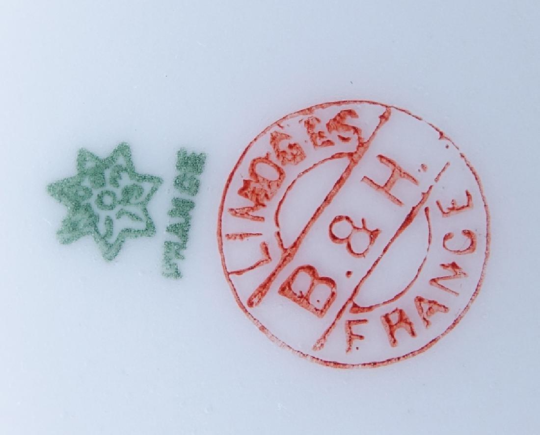 Antique Limoges Porcelain Hand Painted Fish Platter and - 3