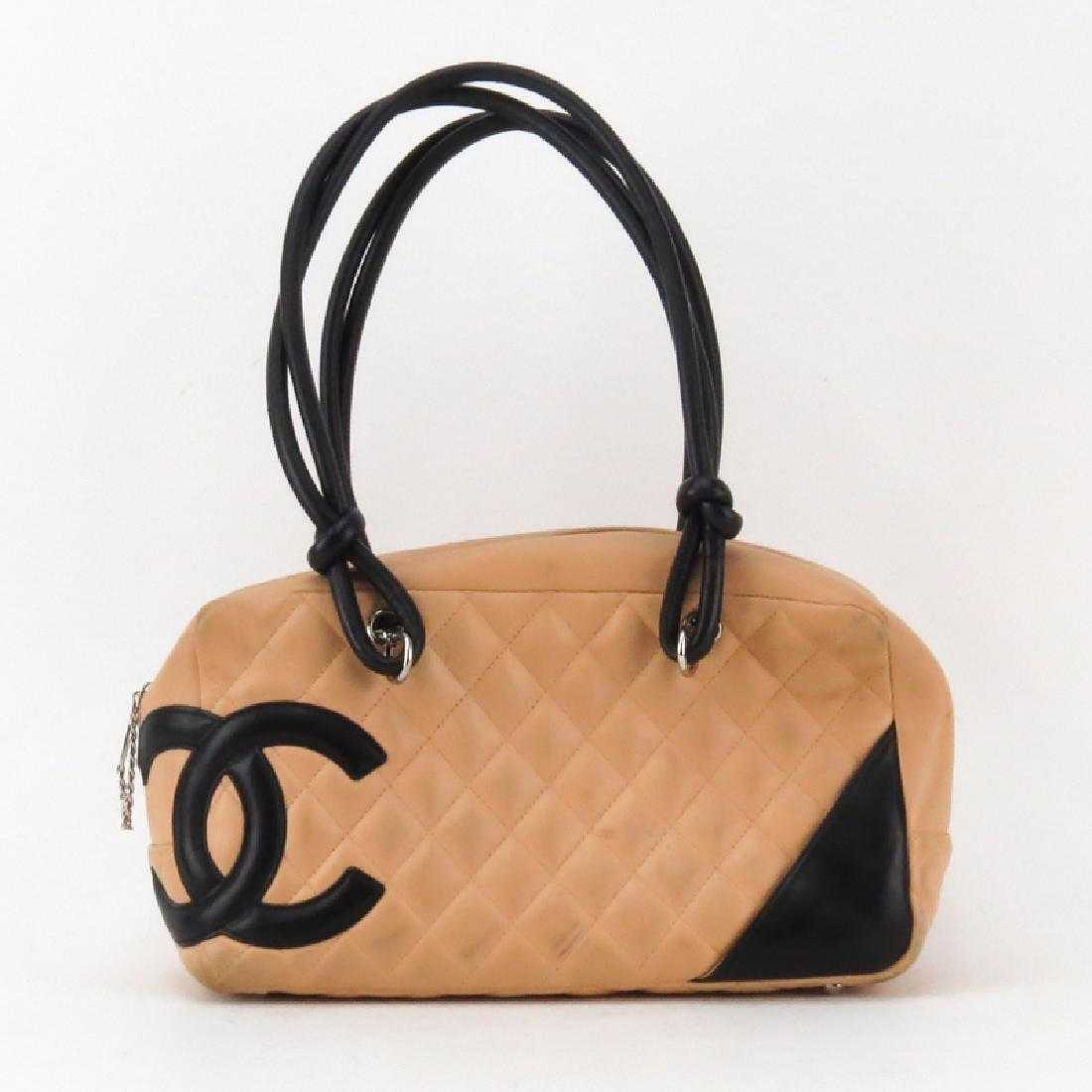 8e5a7a458379 Chanel Linge Cambon Quilted Leather Bowler Bag