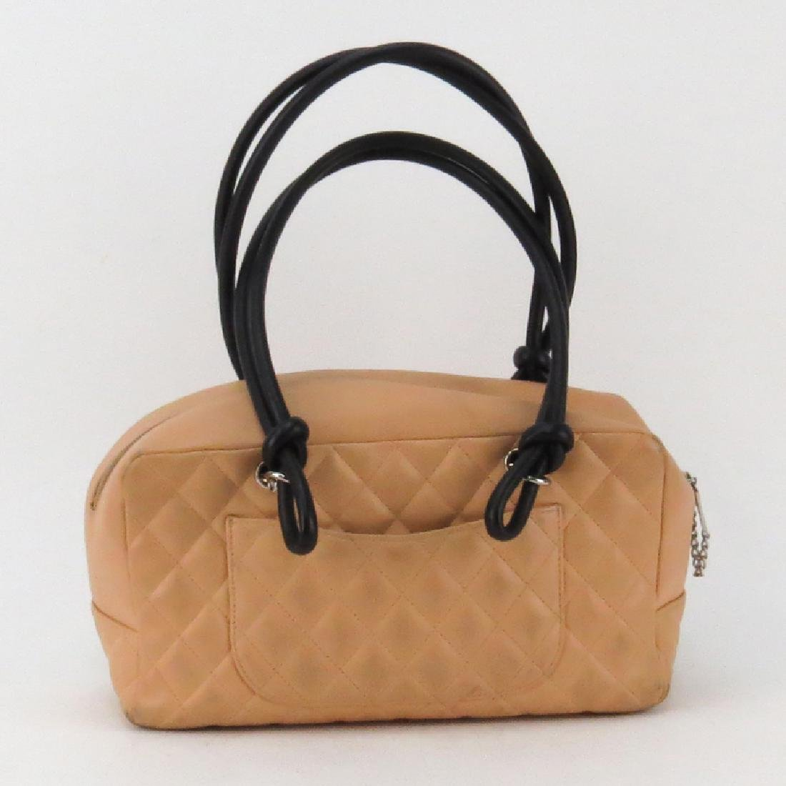 Chanel Linge Cambon Quilted Leather Bowler Bag - 2
