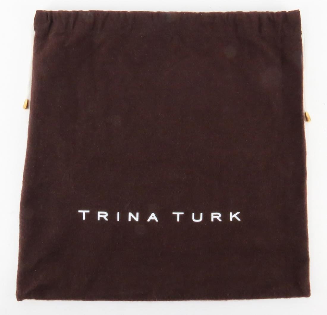 Trina Turk Salmon Pink Patent Leather Clutch - 7
