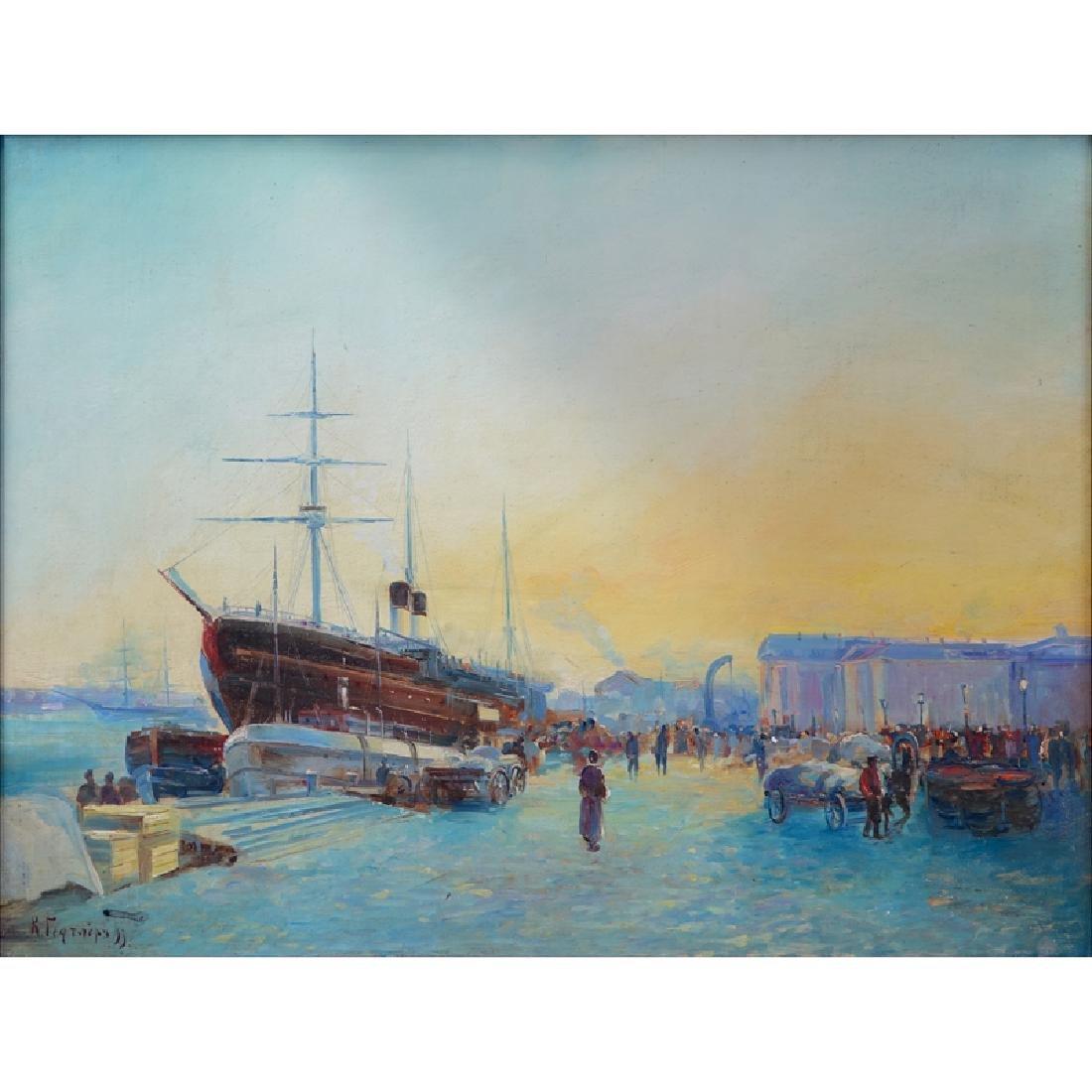 Karl Eduardovich Geftler, Russian (1858-1918) Oil on