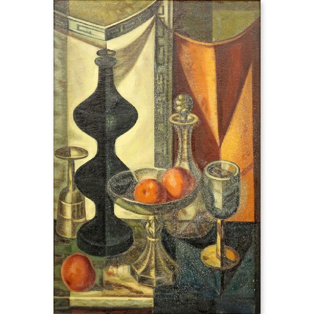 "19/20th Century Oil on Canvas ""Still Life"", unsigned"