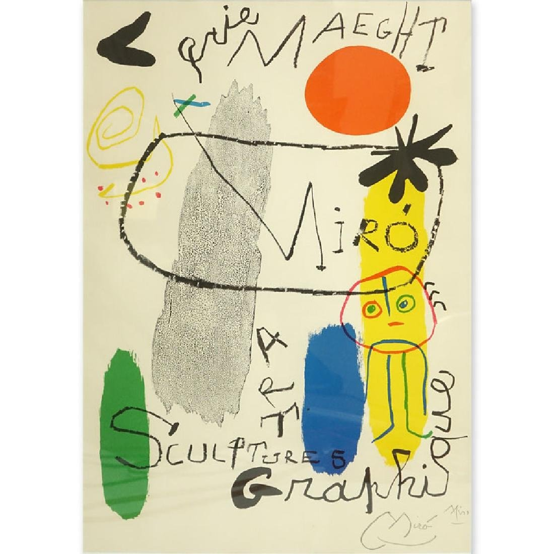"After: Joan Miro, Spanish   (1893 - 1983) ""Galerie"