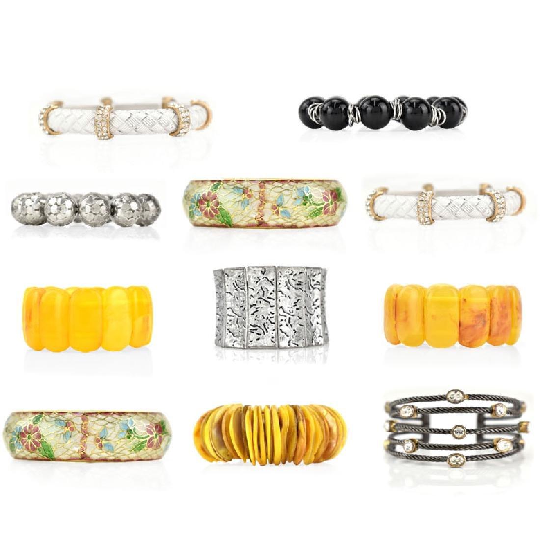 Eleven (11) Vintage Bangle Bracelets
