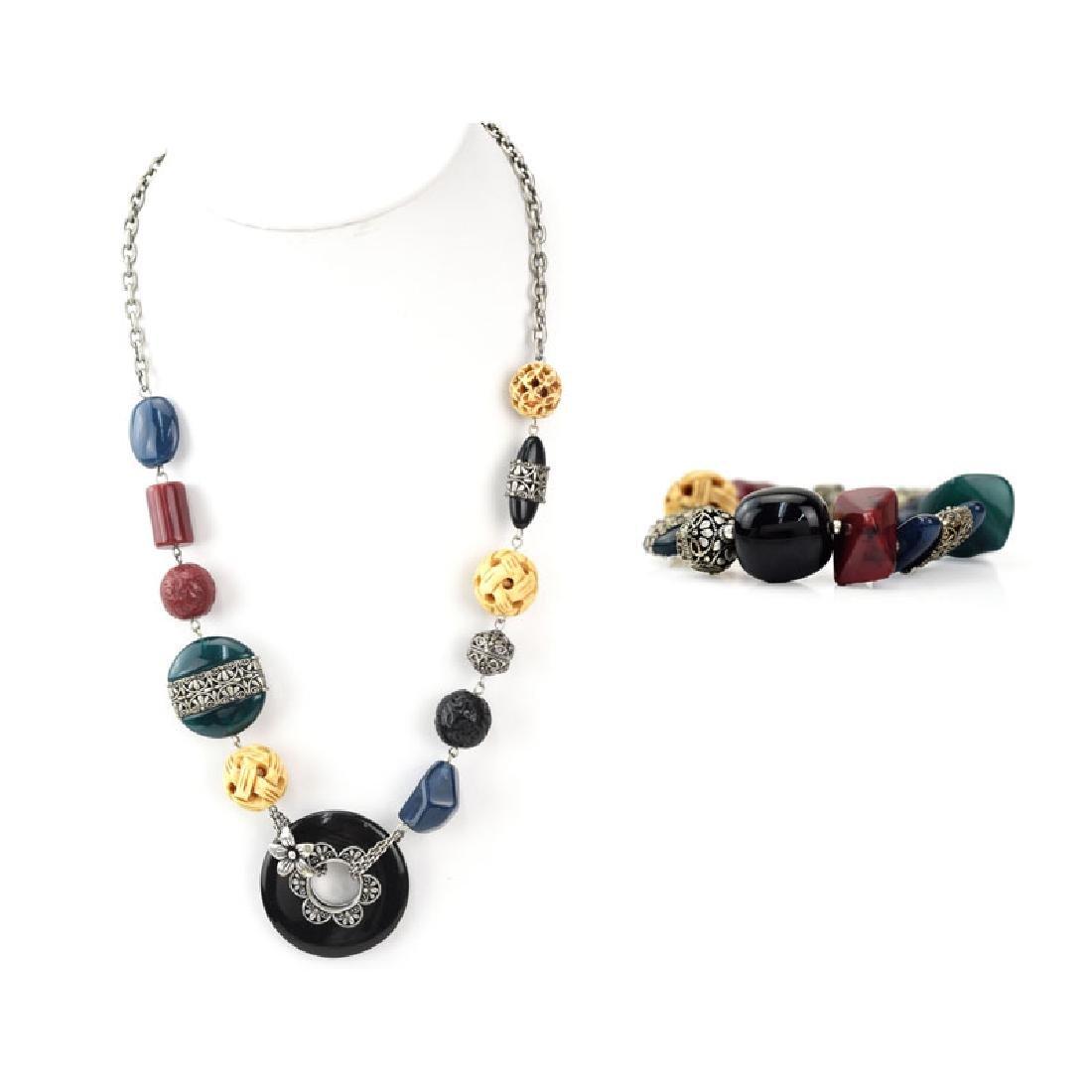 Two (2) Piece Chunky BoHo Style Necklace and Bracelet