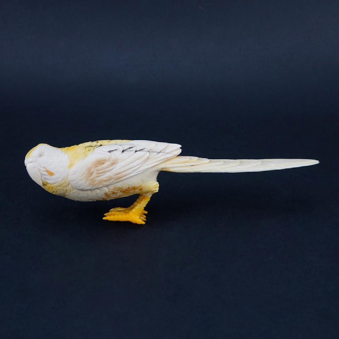 Vintage Chinese Carved Ivory Bird Figurine