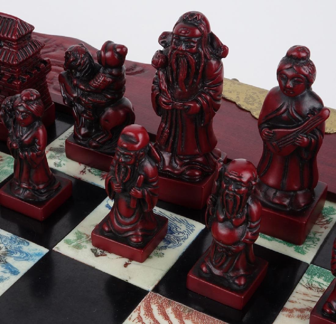Vintage Chinese Chess Set - 3