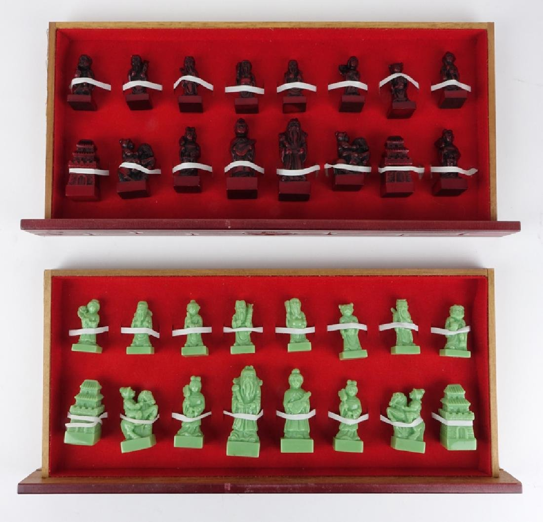 Vintage Chinese Chess Set - 5