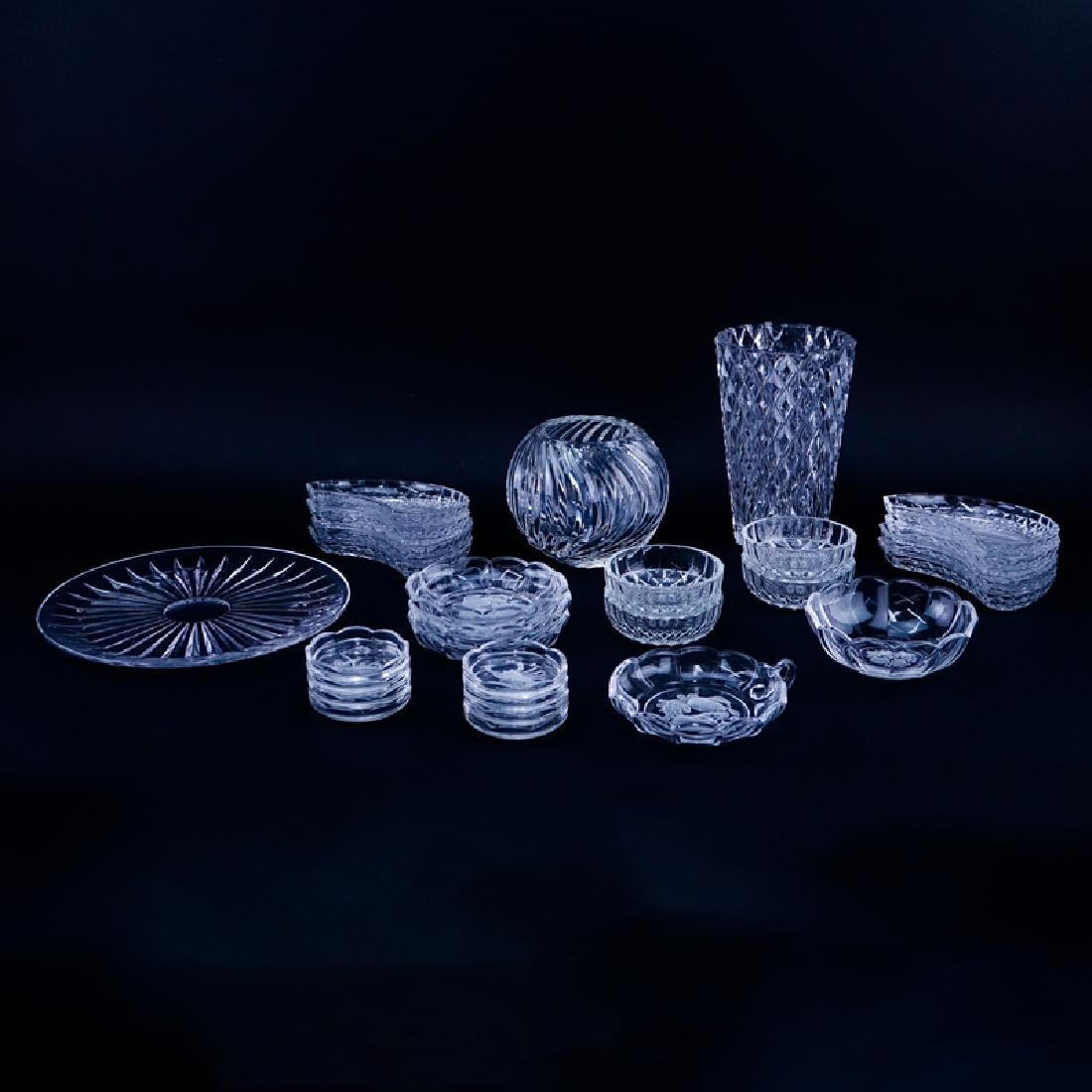 Large Collection of Val St. Lambert Crystal Tableware.