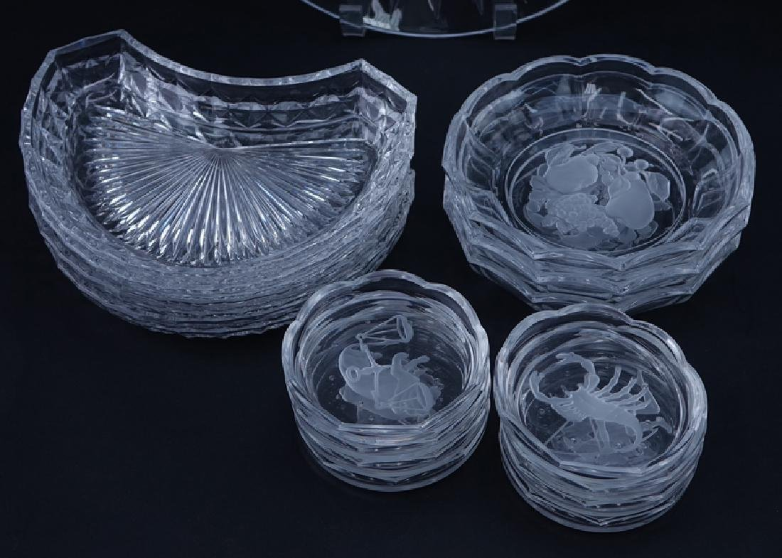 Large Collection of Val St. Lambert Crystal Tableware. - 2